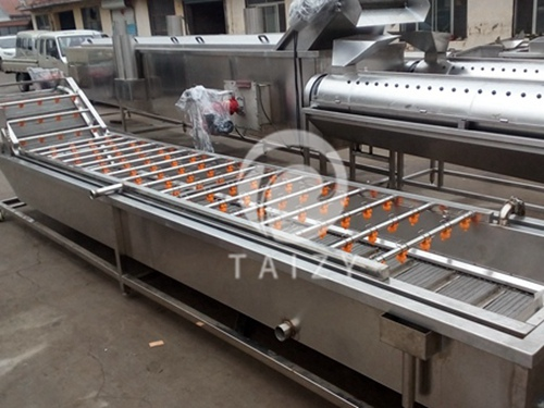How does the fruit and vegetable washing machine work