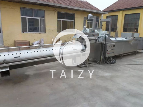 Chicken claw skin peeling production line (20)