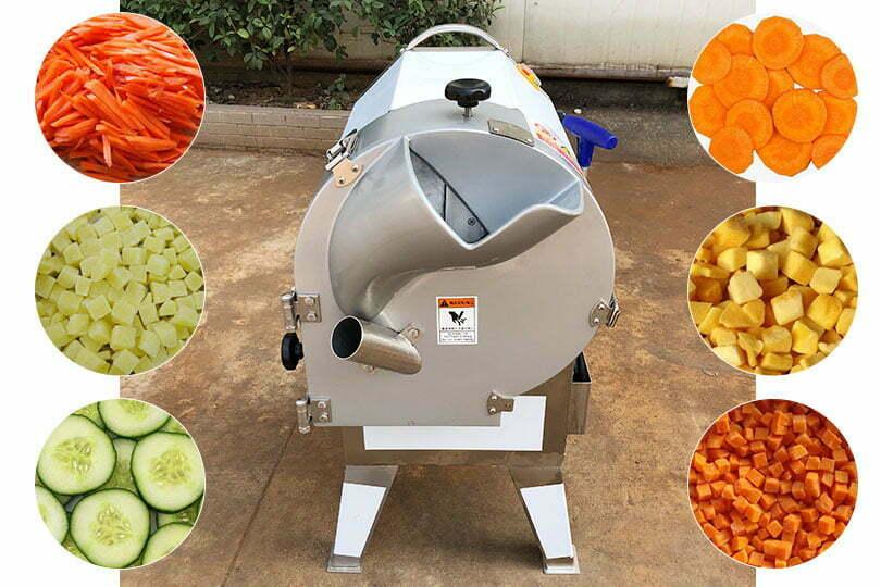 Commercial bulbous vegetable cutter machine
