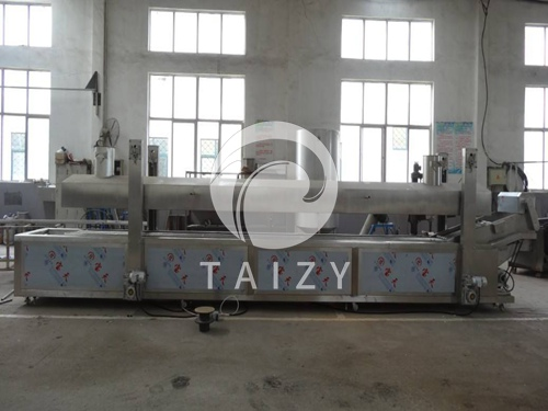 Mesh conveyer frying machine (4)