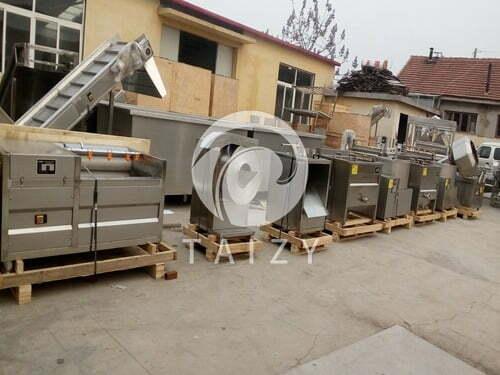 Semi-automatic potato chips production line (1)