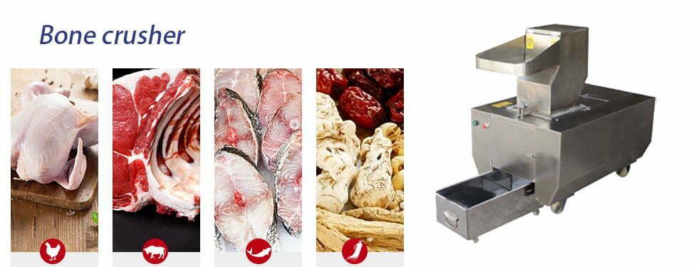automatic animal bone crusher machine application