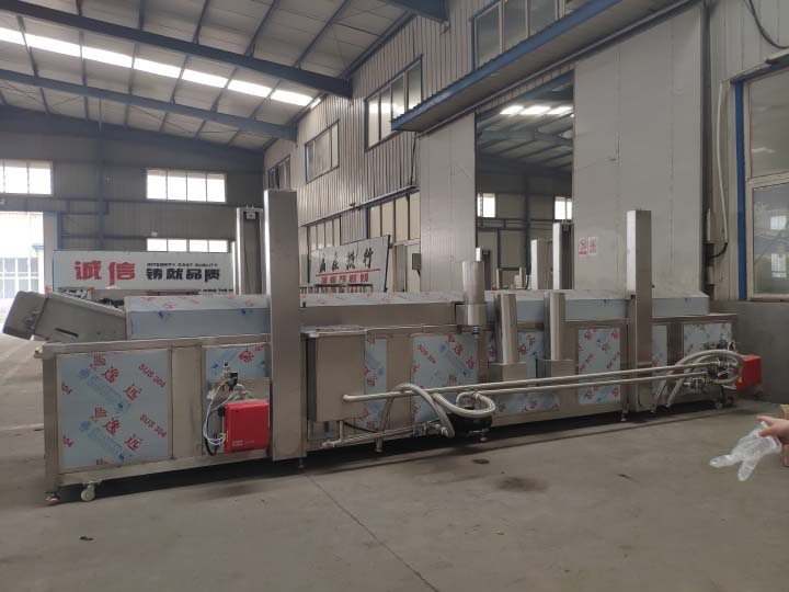 automatic industrial continuous fryer