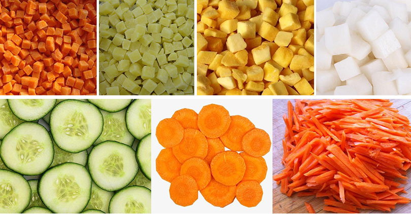commercial root vegetable cutting machine application