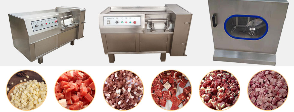 frozen meat dicing machine application