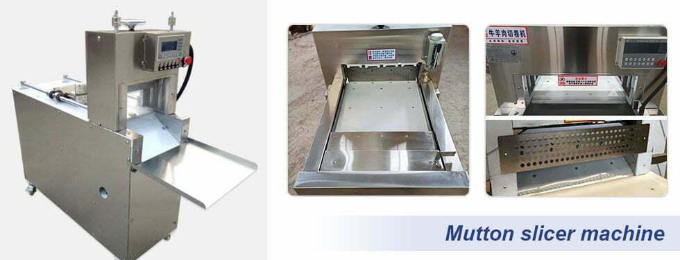 frozen meat mutton slicer machine details