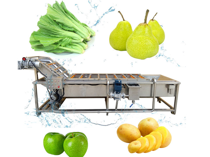 industrial fruit and vegetable washing cleaning machine