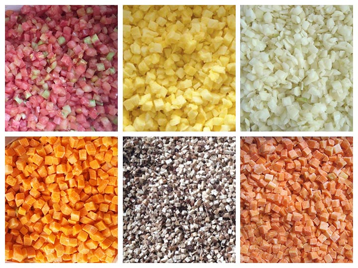 vegetable dicing machine application