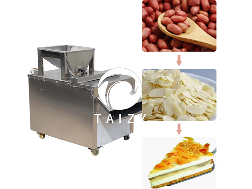 Peanut Almond Slicer Machine Walnut Slicing Machine for Commercial Use
