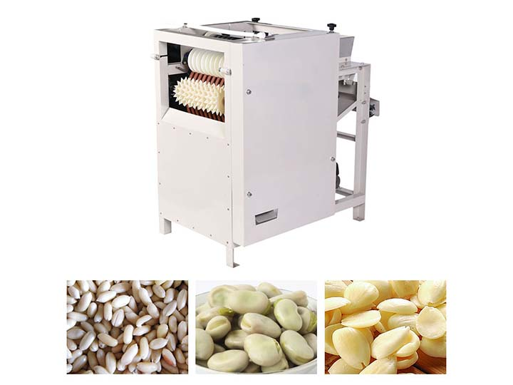 almond peeling machine application