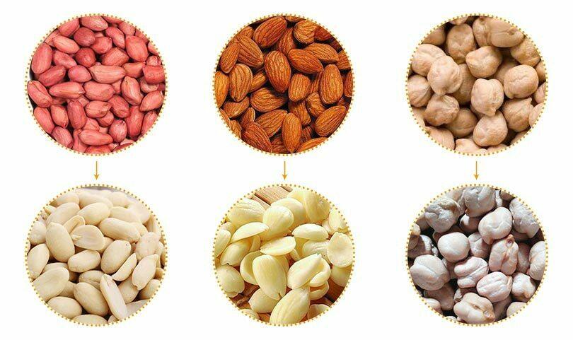 commercial almond peeler application