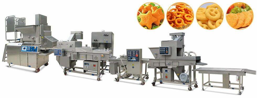 large automatic burger patty production line