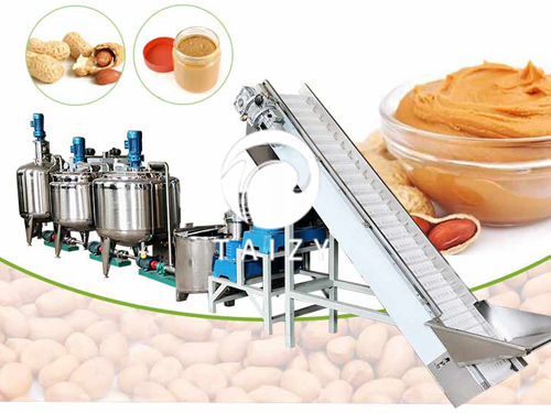 Peanut butter production for commercial peanut butter with 200kg capacity