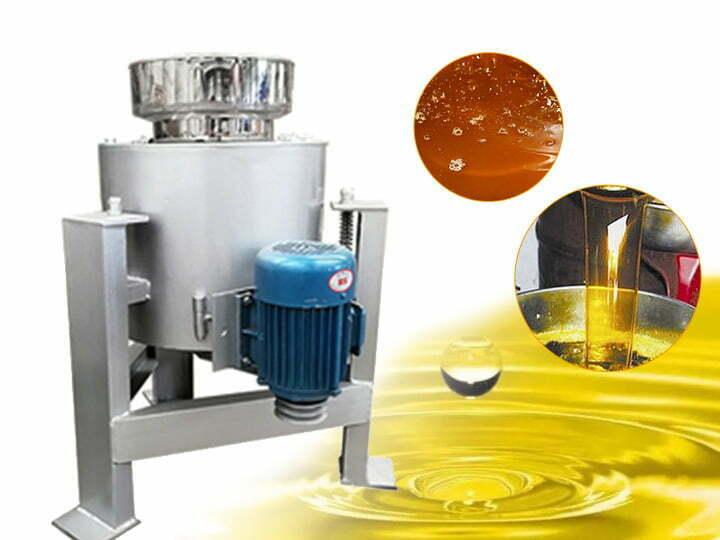 Centrifugal oil filter machine