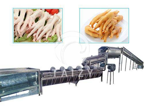 chicken feet peeling productin line