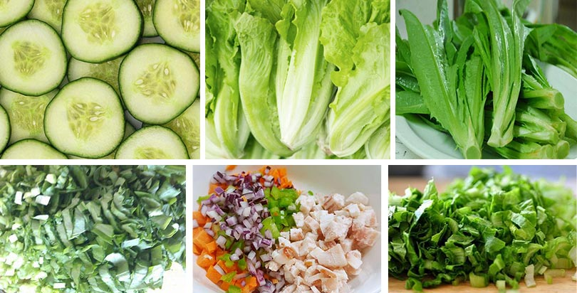 commercial leafy vegetable cutter machine application