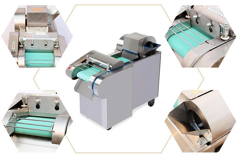 green vegetable cutting slicing machine details