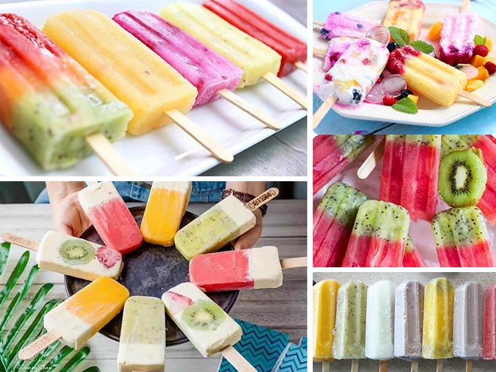 ice popsicles made by ice popsicle maker