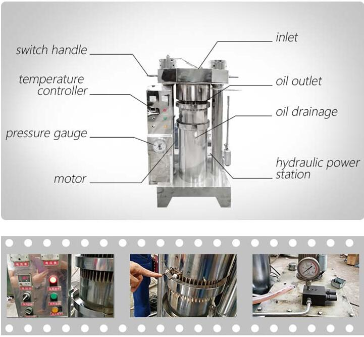 oil press machine structure