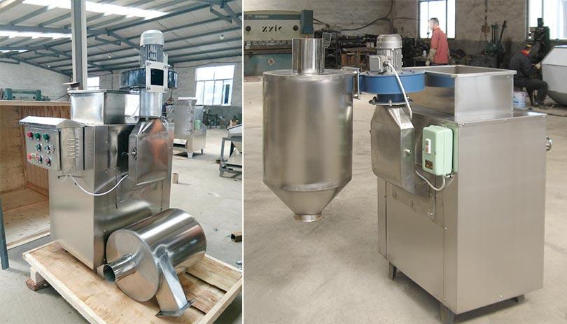 cocoa bean peeling machine in factory