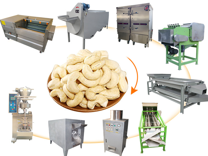 small semi automatic cashew nut processing machine