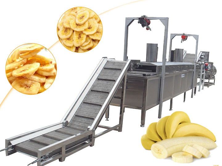 automatic banana chips production line plant