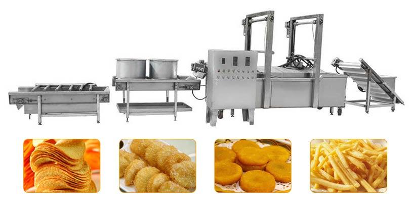 fried food processing machine