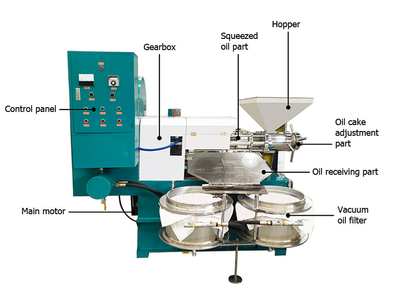 screw oil extraction machine structure