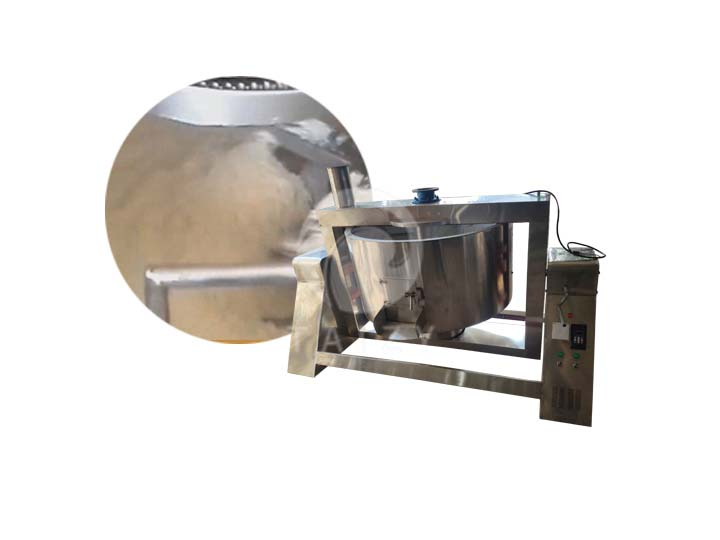 cassava frying machine