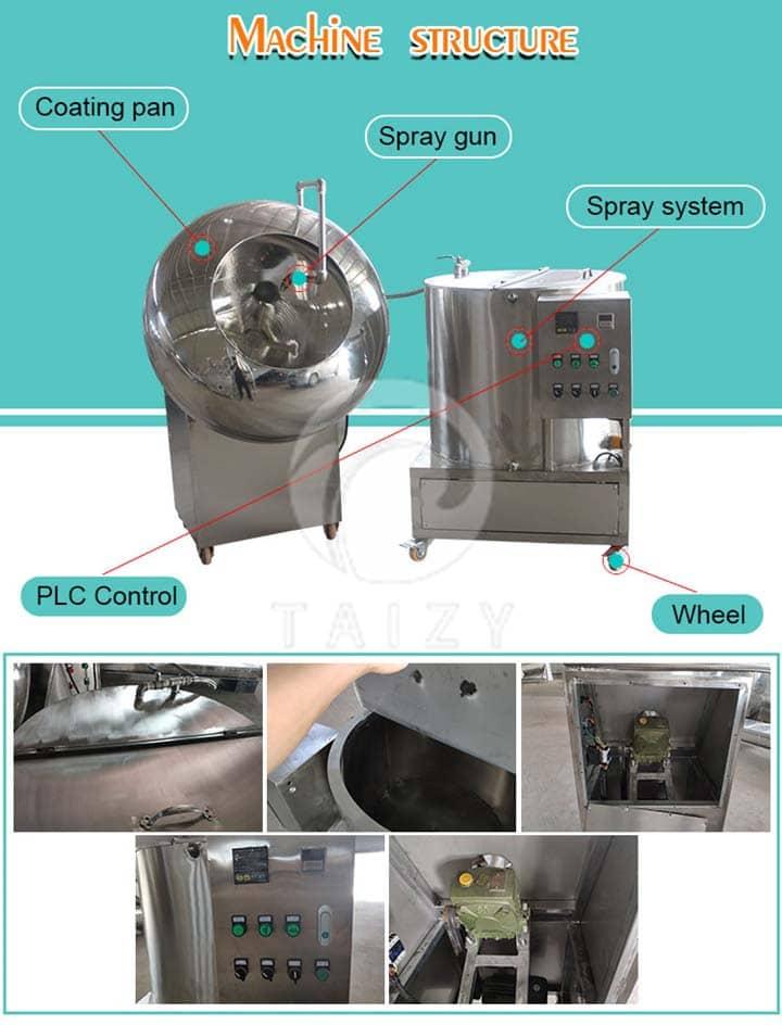 coating machine structure