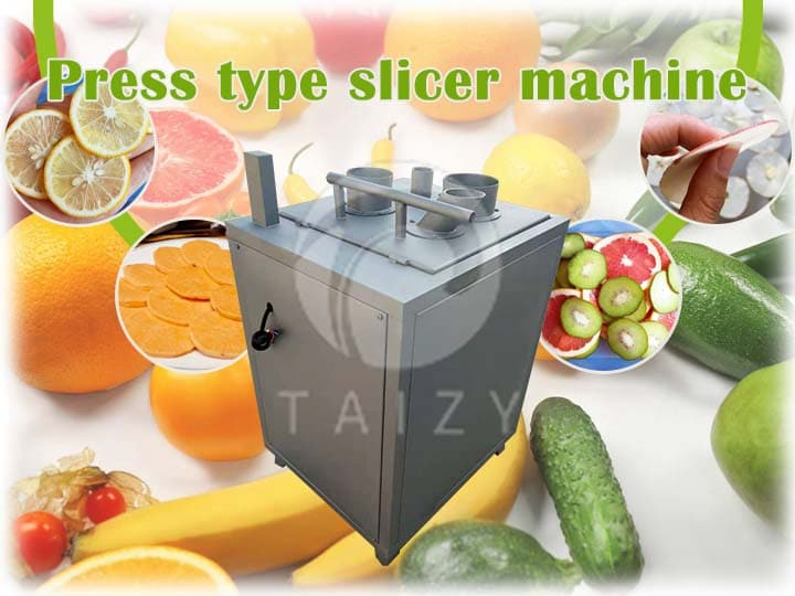 Press type slicer machine for banana, cucumber, carrot