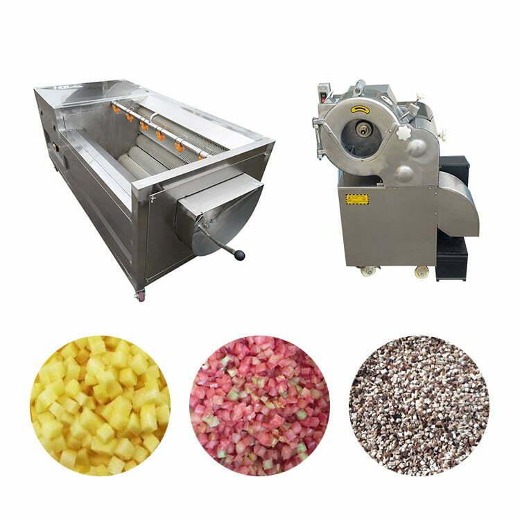 potato peeling and dicing machine