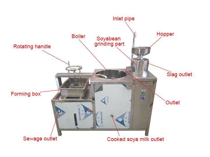 commercial tofu maker machine structure
