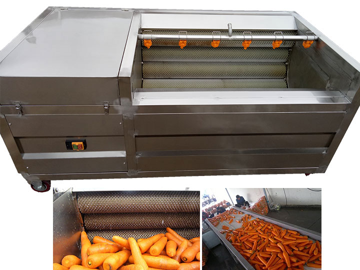 commercial brush carrot washing machine