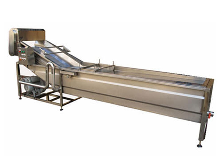 cooling machine in frozen peas processing plant