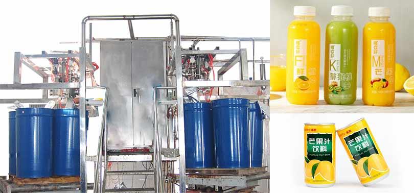 mango fruit juice filling packaging machine
