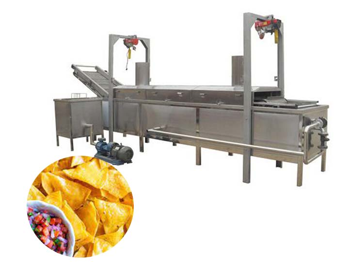 industrial tortilla chips frying machine