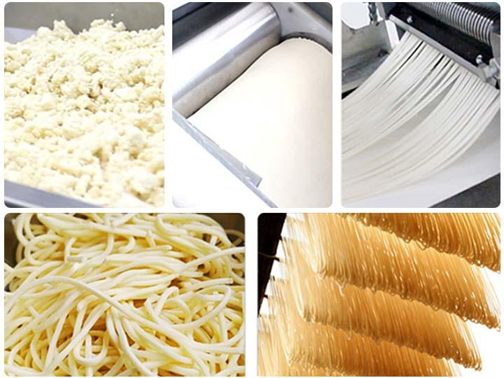 noodle making process