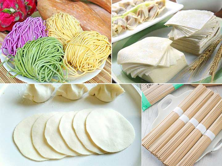 wet and dry noodle making machine application