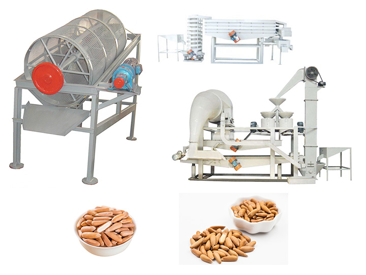 Pakistan pine nut shelling peeling machine