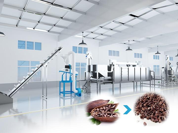 cocoa bean nibs processing machine
