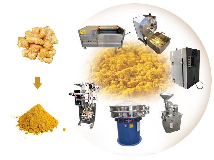 ginger powder processing machine line