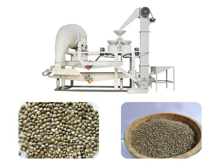 hemp seed shelling separating machine