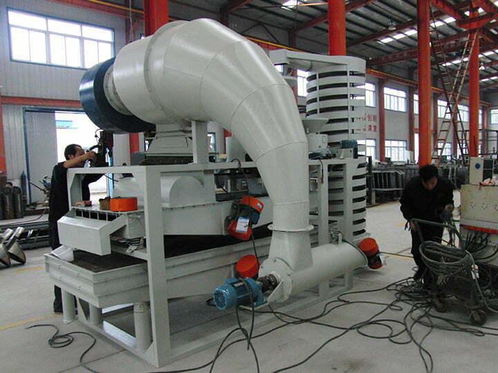 pine nut shelling separating machine