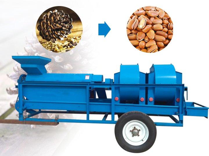 pine nut threshing machine