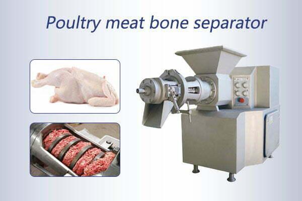 Poultry meat bone separator